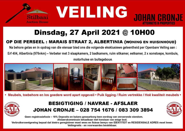 Stilbaai Auction House April 2021