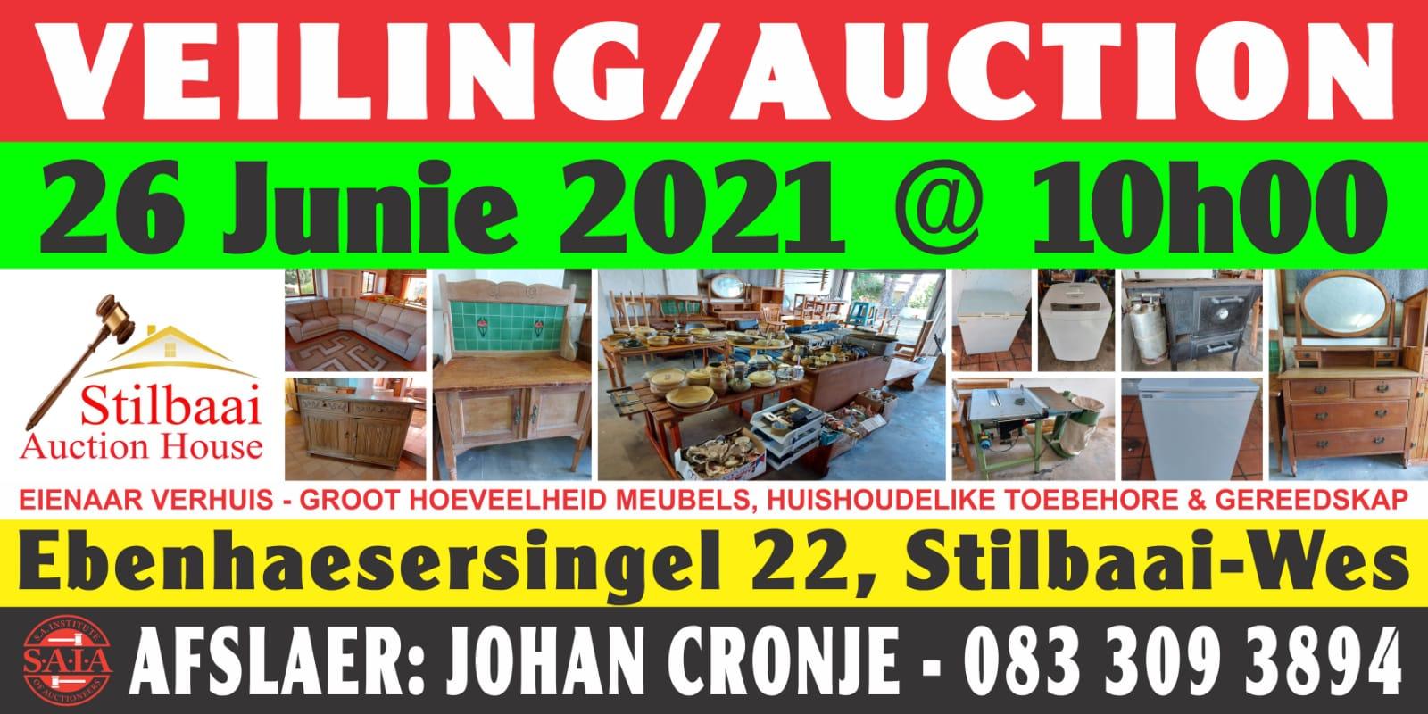 Stilbaai Auction House 26 June 2021